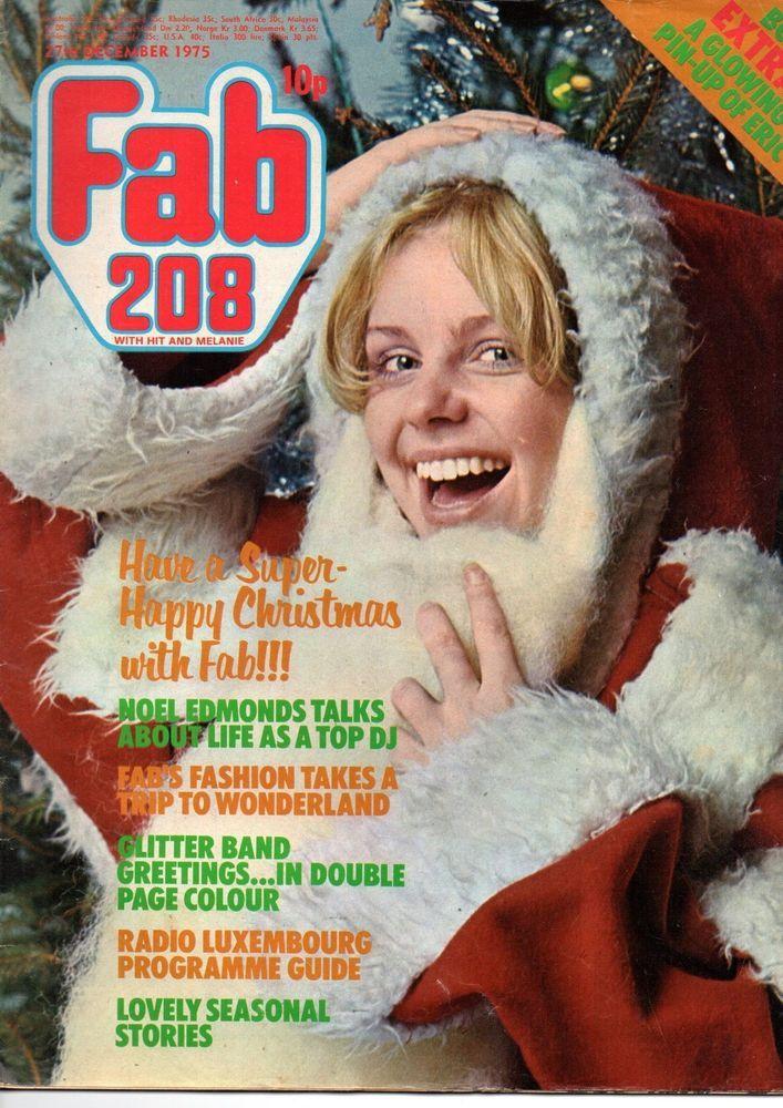 Fab 208 Magazine 27 December 1975    Glitter Band    Noel Edmonds