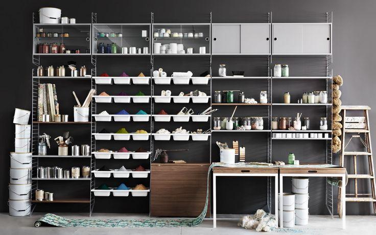 the string shelves