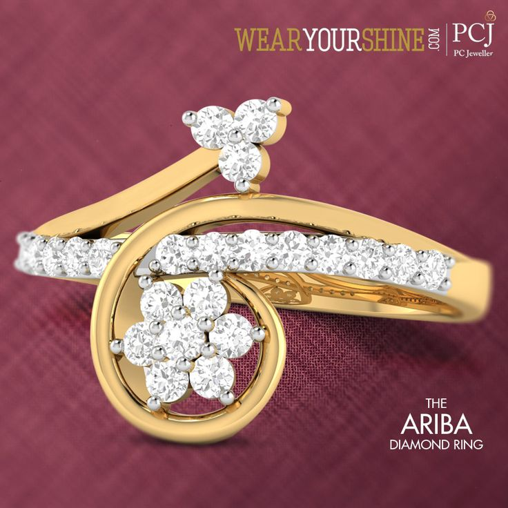 Fancy up your casual chic with 'The Ariba Diamond Ring' from WearYourShine.com  #Fashion #Jewellery #Jewels #Trends #Style #Accessories #Jewelry #Blog #Shine