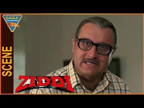 Ziddi Hindi Movie || Anupam Kher Scold To Sunny Deol || Eagle Hindi Movies