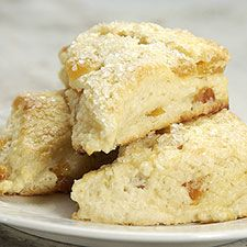 Apricot Cream Cheese Scones ~T~ These are just wonderful. I have switched up fruit, but still go back to the apricot.
