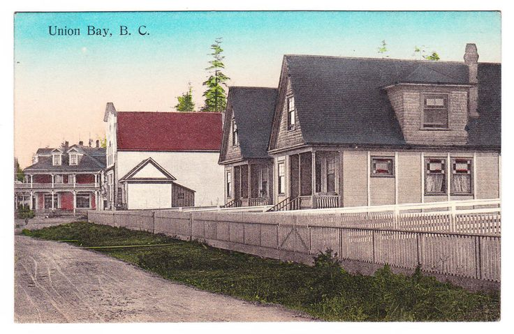 BC – UNION BAY, Residences, Bishop Hotel, Fraser & Horne c.1900s PPC