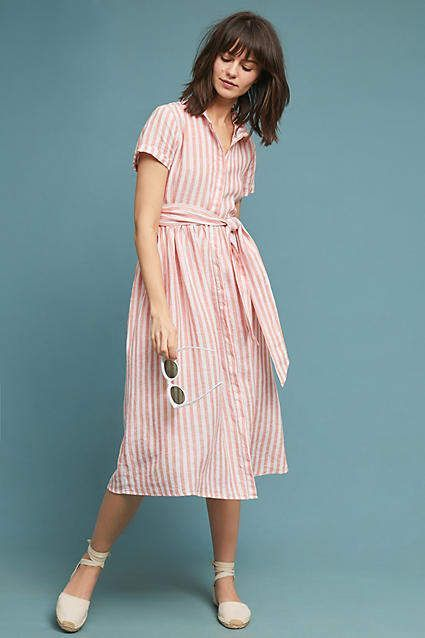 5050fbe5206 4OUR Dreamers Longport Linen Shirtdress  ad