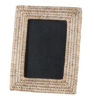 Photo frame - white wash rattan - Lifestyle Home and Living
