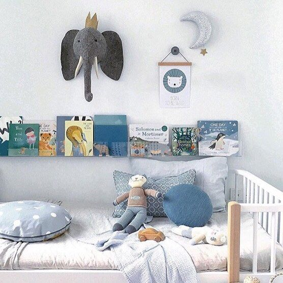 What a calming space created by @mondocherry. The colour palette is perfection. And the @ubabub bookshelves look fab side by side like this.  #kids #kidsrooms #boysroom #kidsdecor #interiors #saturday #musing