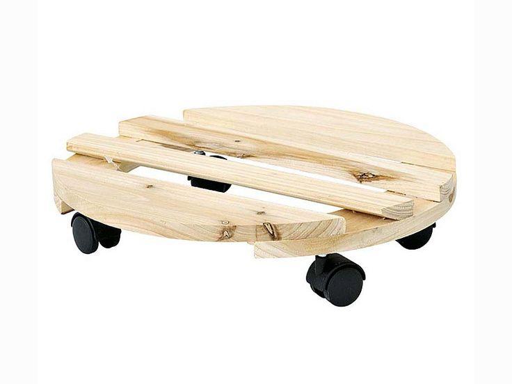 Trolley rotondo in legno Verdemax Ø 30cm (5150)