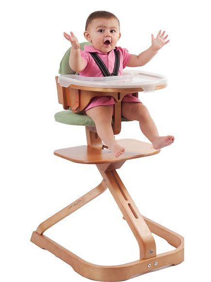 Svan's Signet High Chair accommodates your little one's developmental milestones