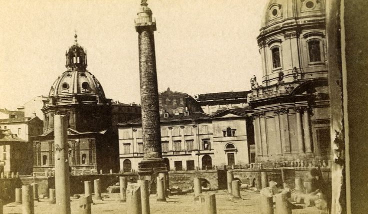 Italy Roma Column Trajan Old CDV Photo 1870
