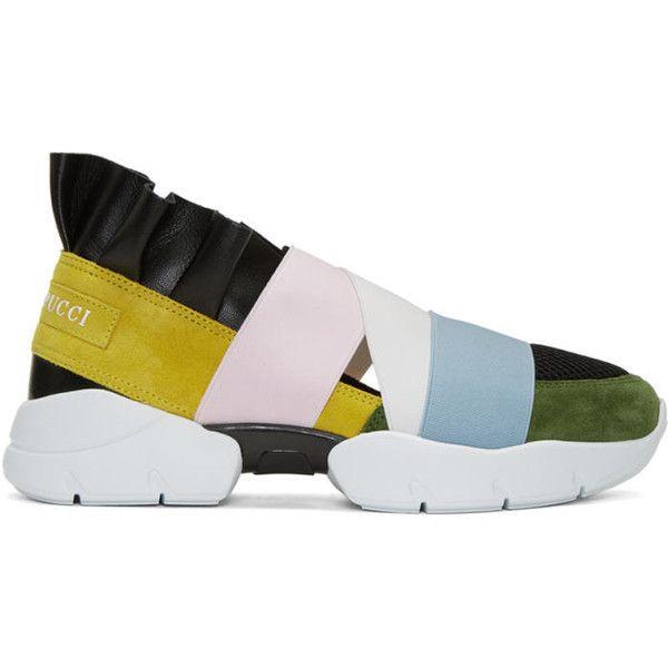 Chaussures De Sport Parés Suède Emilio Pucci 1NXIM6dmG