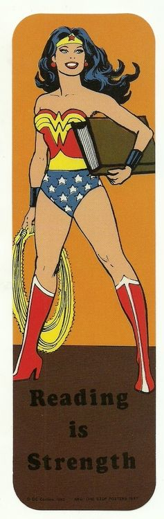 1987 Wonder Woman Bookmark ~ Printed as part of a DC-backed literacy campaign