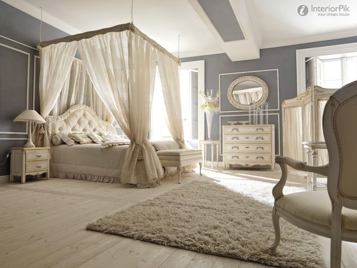 Romantic Luxury Master Bedroom | European-style luxury villa romantic bedroom decoration effect chart ...