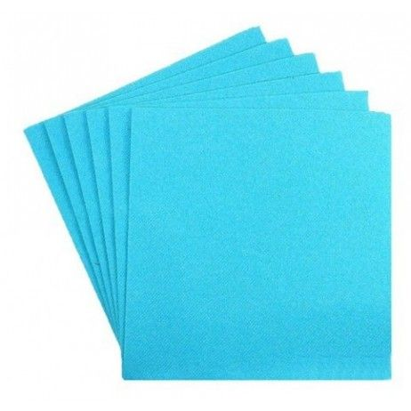 Serviette cocktail papier jetable Turquoise