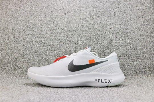 0b337de8721f1 Off White x Nike FLEX EXPERIENCE RN 7  White  AJ9089-100