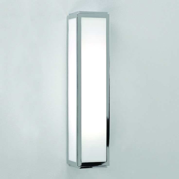 Astro Lighting 0550 Mashiko 360 Bathroom Wall Light In Polished Chrome And White Frosted Glass