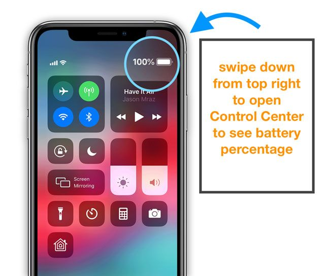 Iphone X Xs Or Xr Missing Battery Percentage We Ve Found It Appletoolbox Battery Icon Battery Iphone