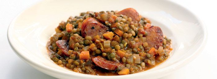 Lentil Stew with Spicy Sausage | Foodies | Pinterest