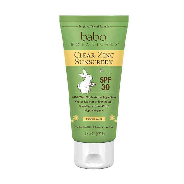 Babo Botanicals SPF 30 Clear Zinc Sunscreen Lotion 3 oz – Summer Scent