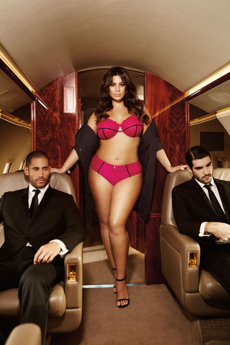Ashley Graham Fatal Attraction unlined bra and matching high cut panty from Addition Elle spring 2016 plus size lingerie