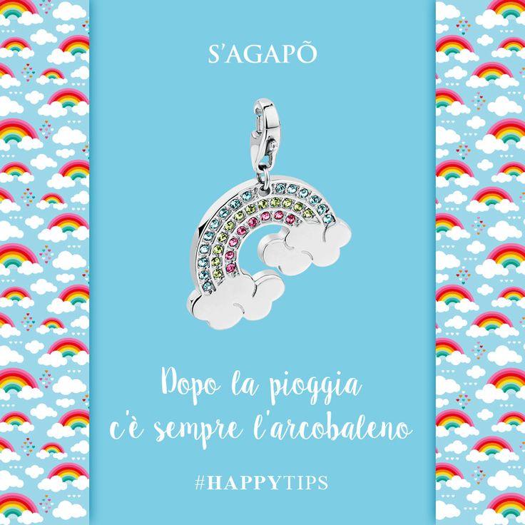 Dopo la pioggia c'è sempre l'arcobaleno #Happy #HappyTips #citazioni #quote #charms #ciondoli #rainbow