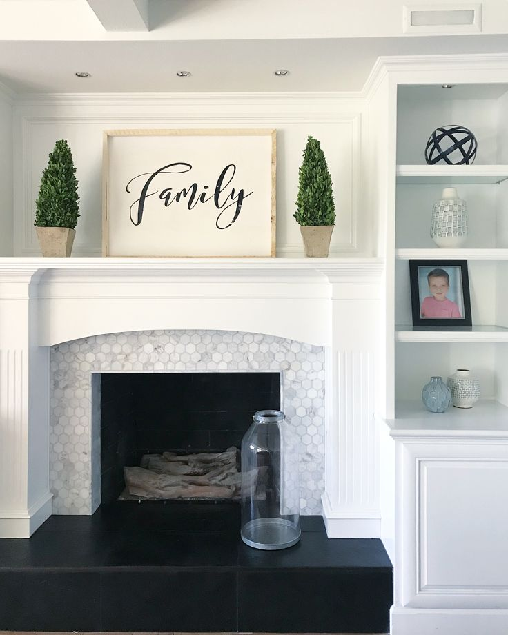 "297 Likes, 29 Comments - Kayla Collins (@kaylacollinsinteriors) on Instagram: ""Okay here's the second fireplace makeover. I debated posting this because it's not styled out, it's…"""