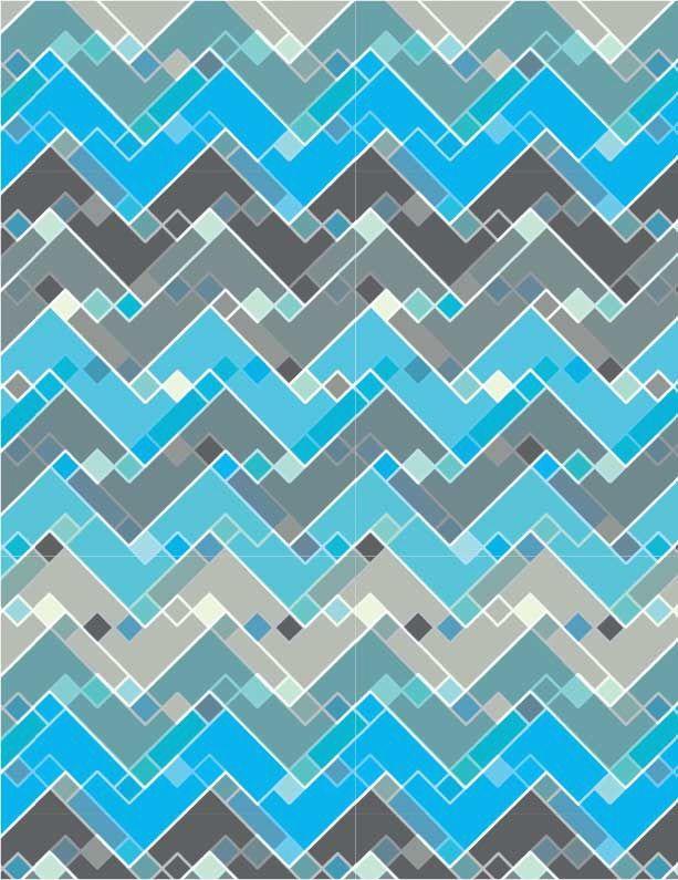 an original Geometric Pattern by designer Linda Webb. See more on Coroflot.