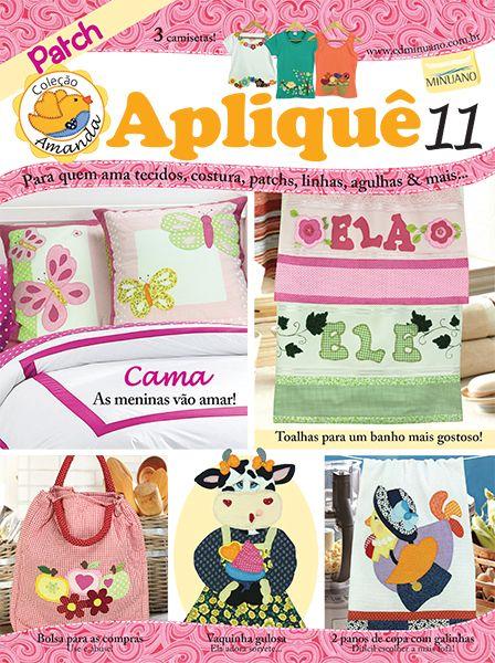 Artesanato - Apliquê - Patchwork : COL AMANDA APLIQUE 011 - Editora Minuano