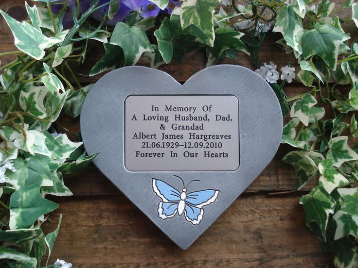 Details about Personalised Memorial Plaque / Stone with ...