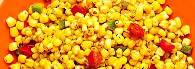 Spicy Cajun Corn - skipped the butter and used blackened seasoning & cayenne pepper!!!  Delicious!