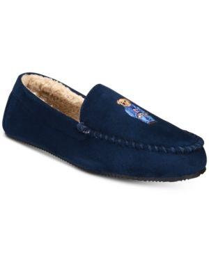 POLO RALPH LAUREN RALPH LAUREN MEN S DEZI MICRO-SUEDE POLO BEAR SLIPPERS.   poloralphlauren  shoes 6fe77931ff0