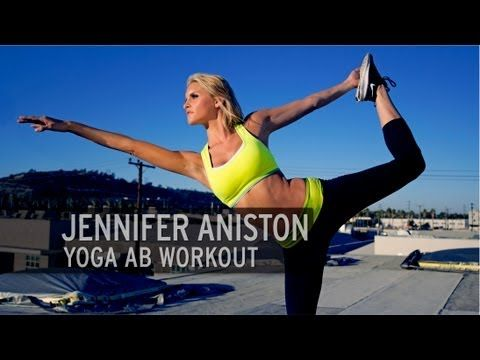 April 15, 2013 Monday - Jennifer Aniston Yoga Ab Workout - YouTube. Ten minutes of yoga that will make you. Some advance moves. Balance required . Bikini season approaches soon!