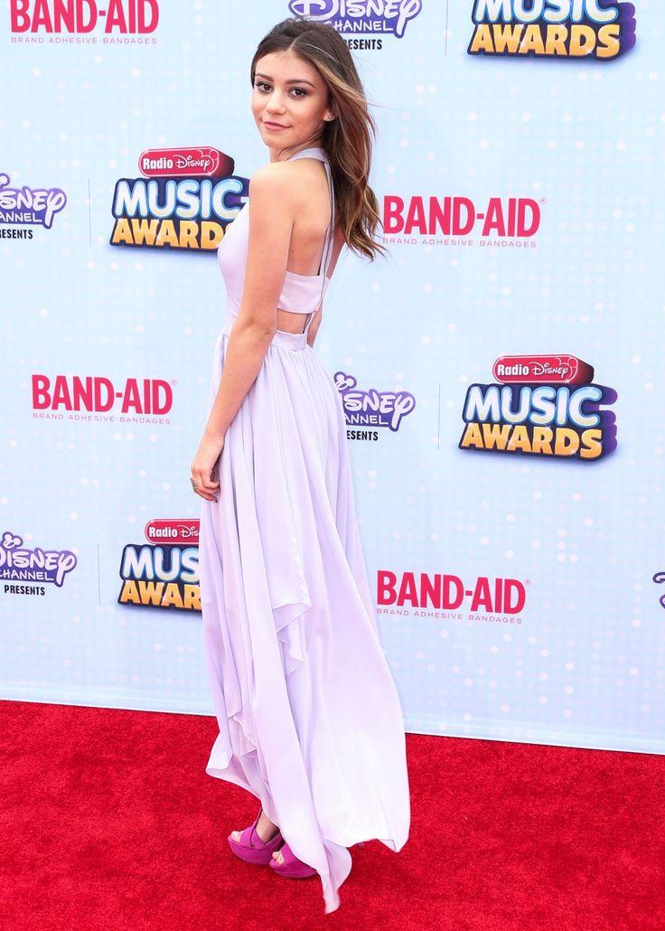 Genevieve Hannelius in Alice + Olivia dress at 2015 Radio Disney Music Awards in Los Angeles