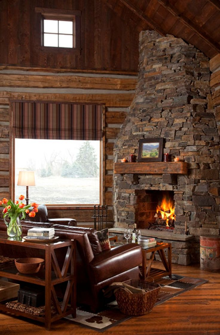 Small cabin ideas pictures remodel and decor - Traditional Corner Fireplace Design Pictures Remodel Decor And Ideas Page 8