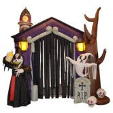Found it at Wayfair - Halloween Inflatable Haunted House Castle with Skeletons