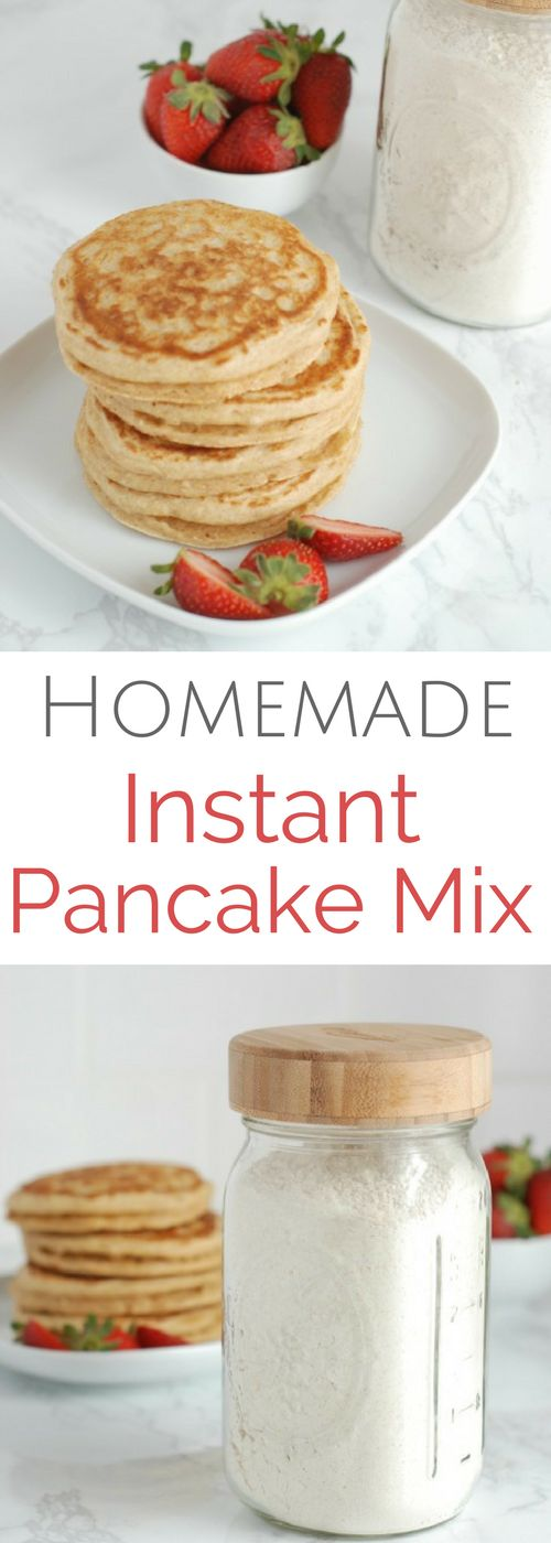 Homemade Instant Pancake Mix via @https://www.pinterest.com/rmnutrition/