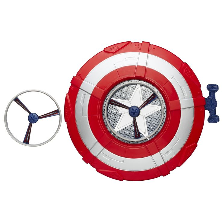 This gift lets any child act like Captain America and recreate scenes from Marvel's Avengers: Age of Ultron. | Captain America Star Launch Shield