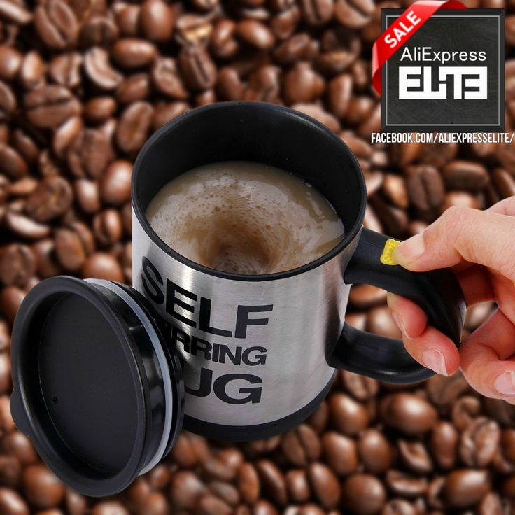 Are You so Lazy, or Just Don't Have Any Spoons !?!?😏  This is a Special Self Stirring Mug 😻  http://bit.ly/2cCiPpa