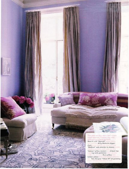 Lavender room perfect for relaxing
