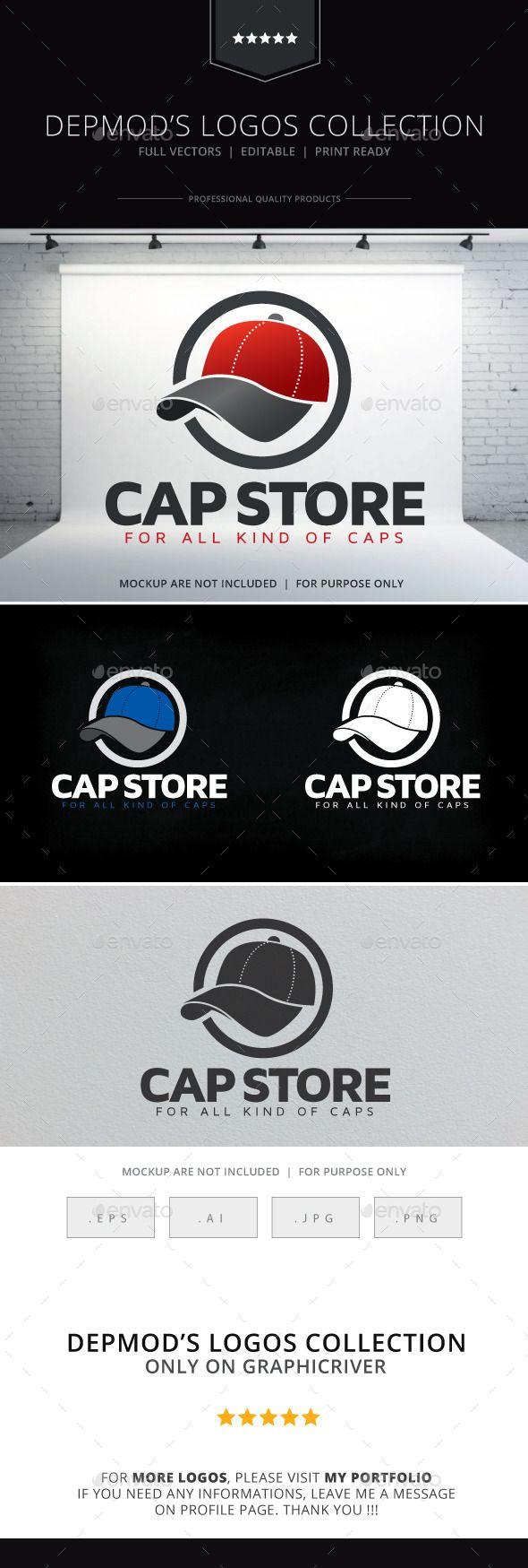 Cap Store Logo — Vector EPS #cap factory #cap • Available here → https://graphicriver.net/item/cap-store-logo/9213626?ref=pxcr