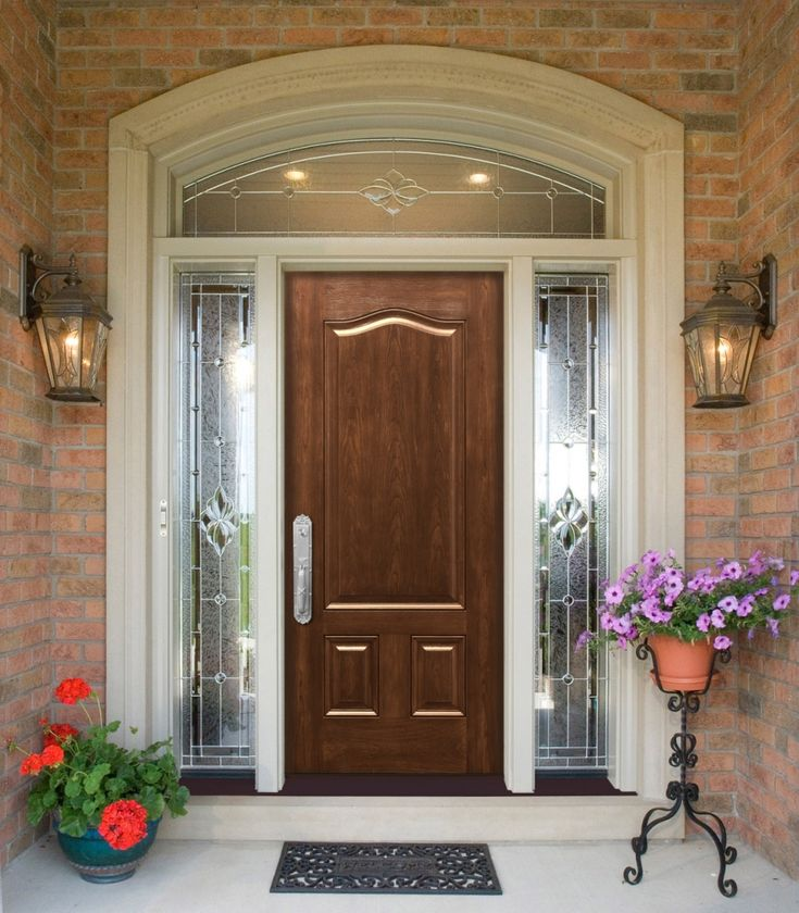 Marvelous ProViau0027s Signet Fiberglass Entry Doors Feature Realistic Woodgrain Finishes  In Cherry, Mahogany, Oak And Fir, Each Available In Seven Stains.