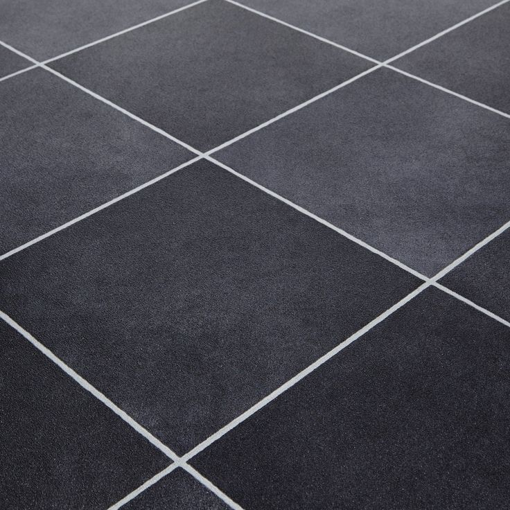 Mardi Gras 598 Durango Black Stone Tile Vinyl Flooring