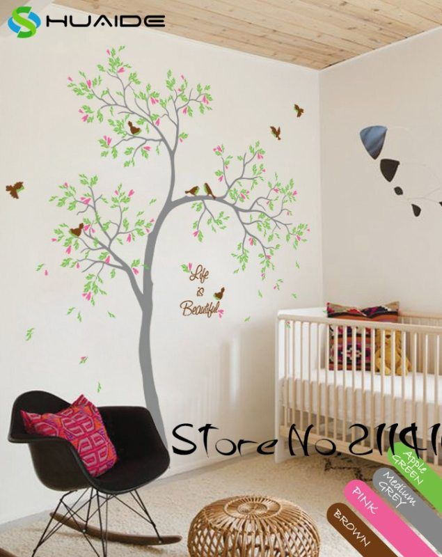 spring tree wall decals life is beautiful large tree wall stickers