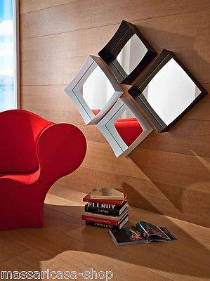 SPECCHIERA ingresso MARZIA bianca e nera 4 specchi http://stores.ebay.it/massaricasa-shop