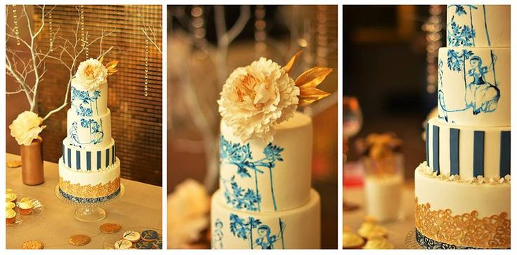 Cake Navy & Gold