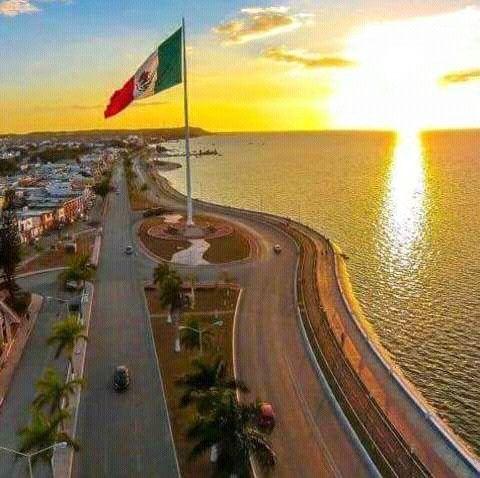 Malecon San Francisco de Campeche, México.