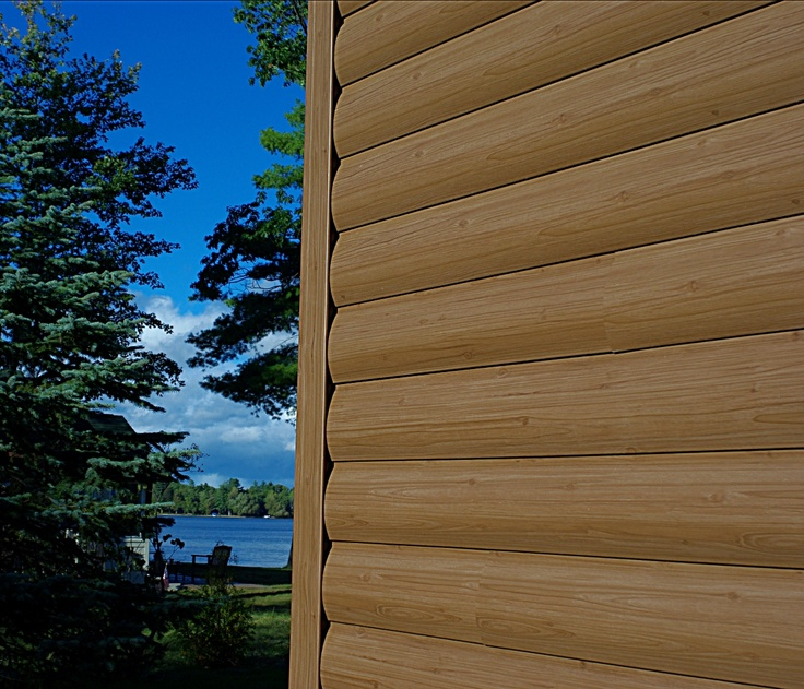 Log Home Exterior Ideas: Timbermill Siding (vinyl)