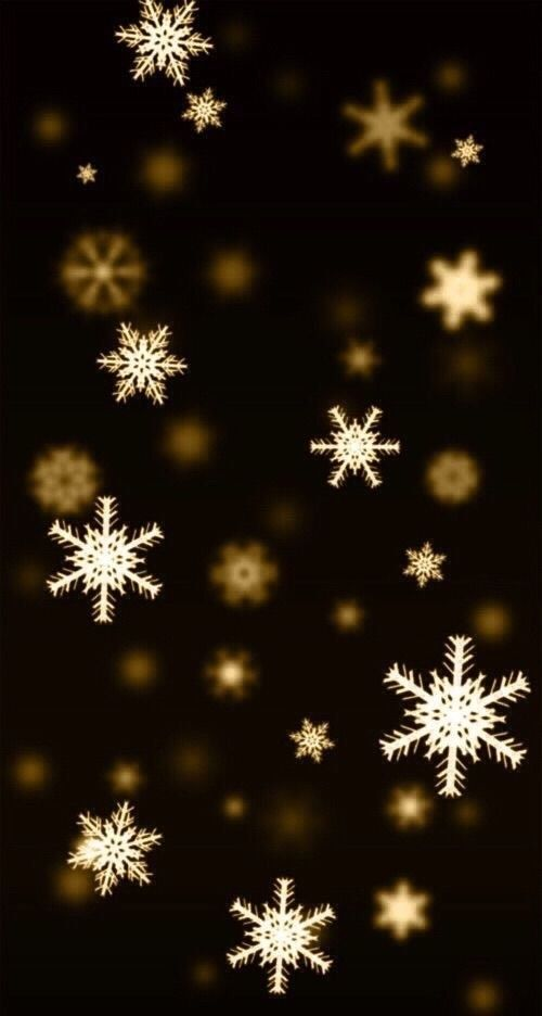 Copos nieve dorados
