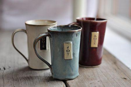 コーヒーマグカップor ティーカップ(手作り) | ハワイの引き出物プルメリアカフェ