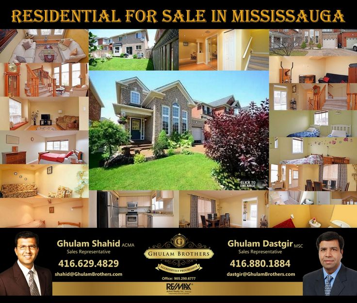 Residential for Sale In Mississauga. For Showing Please Call (416)-629-4829 & (416)-880-1884