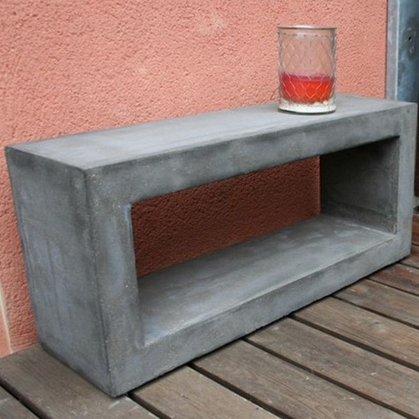 Meuble Beton Gris Naturel Deco Beton Table Basse Design Beton