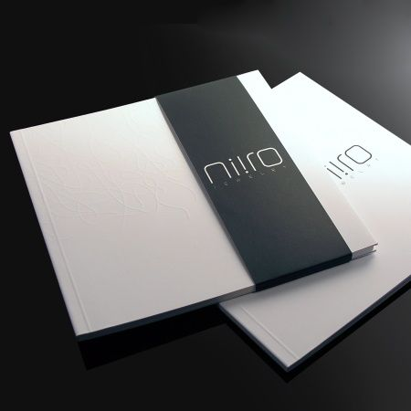 Image catalogue for Niro, clean and minimal identity, Intl design awards _